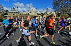 Brighton Marathon 2012 Passing the Royal Pavilion Photograph taken by Simon Dack 15 April 2012 SD150412M97
